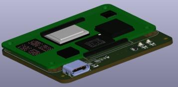 3D RPi CM4 LiM Carrier Board PCB Side
