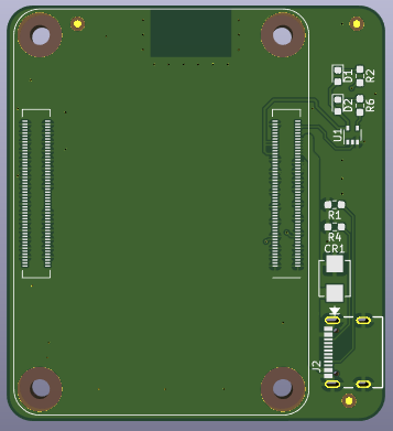 Rendered RPi CM4 LiM Carrier Board PCB Top